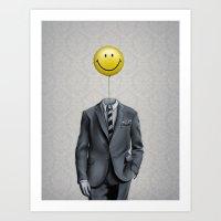 Mr. Smiley :) Art Print