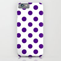 Polka Dots (Indigo/White) iPhone 6 Slim Case