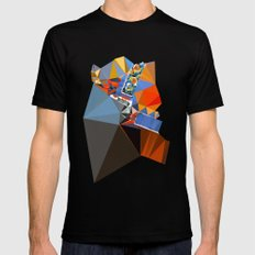 shape of my heart Mens Fitted Tee Black SMALL
