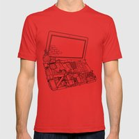 Laptop Surroundings Mens Fitted Tee Red SMALL