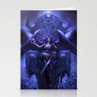 Black Angel Stationery Cards