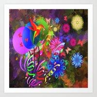 Hummingbird Paradise Art Print