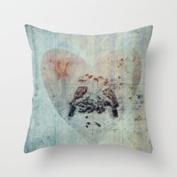 you are my bird Throw Pillow