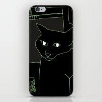Neon Black Cat Shoulder … iPhone & iPod Skin