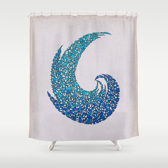 - new wave - Shower Curtain