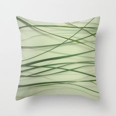 Grass Abstract Throw Pillow