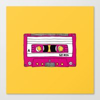 Vintage Mix Tape // Yell… Canvas Print