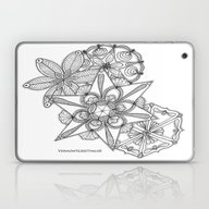 Vermont Zentangle Snow F… Laptop & iPad Skin