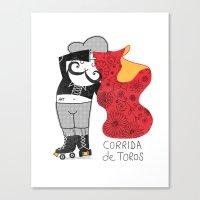 Hernando loves being a Matador Canvas Print