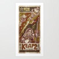 Kosmonavt Kedr Art Print