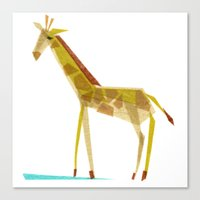 Canvas Print featuring Emma Giraffe by Darrah Gooden