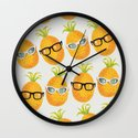 Pineapple Party! Wall Clock