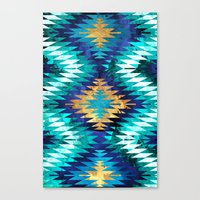 Inverted Navajo Suns Canvas Print