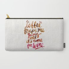 Coffee & Wine – Brown & Magenta Ombré Carry-All Pouch