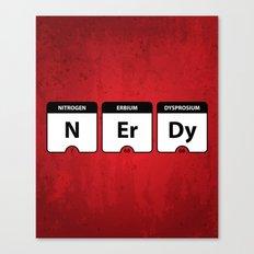 Nerdy Periodic Table Canvas Print