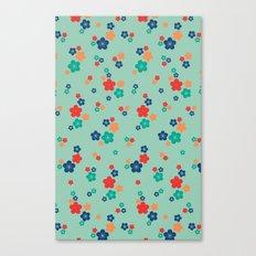 blossom ditsy in grayed jade Canvas Print