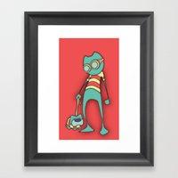 GoggleCat Framed Art Print