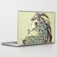 horse Laptop & iPad Skins featuring Beautiful Horse Old by dvdesign