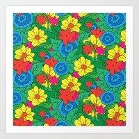 Vector Flowers Art Print