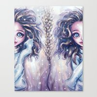 Winter Twins Canvas Print