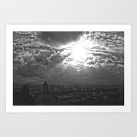 Black And White Roma Art Print