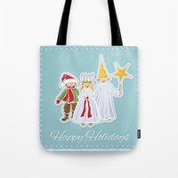 Happy Holidays says Saint Lucia Tote Bag