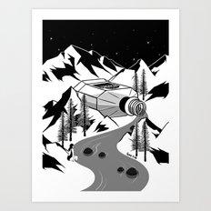 Whisky River Art Print
