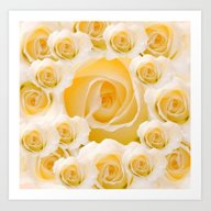 Creamy Peach Rose Abstra… Art Print