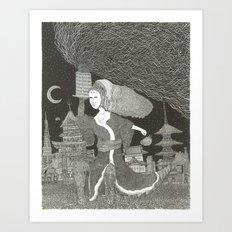 Tenzaru Girl Art Print