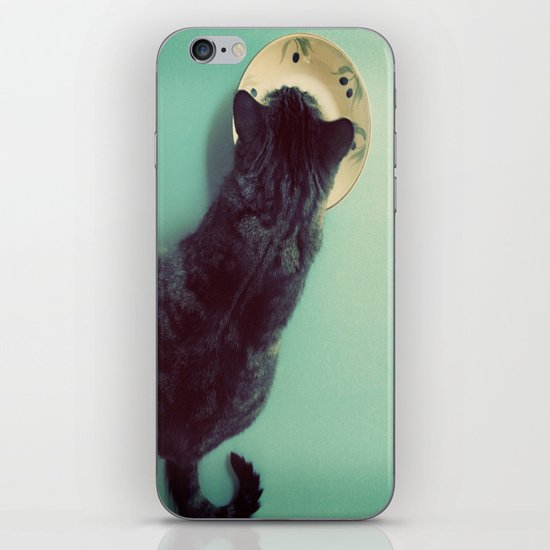 Cat and Saucer iPhone & iPod Skin