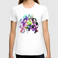 INFIANGLE Womens Fitted Tee White SMALL