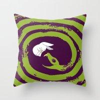 Decaying Snake Throw Pillow