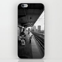 Waiting for Train iPhone & iPod Skin