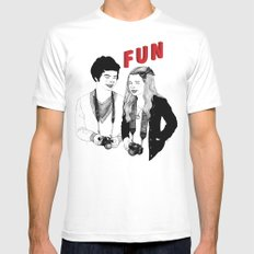 FUN SMALL White Mens Fitted Tee