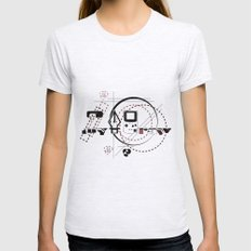Pen Game Womens Fitted Tee Ash Grey SMALL
