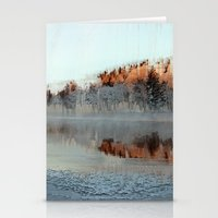 Among Mountains And Lake… Stationery Cards