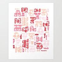 Alphabet Print Art Print
