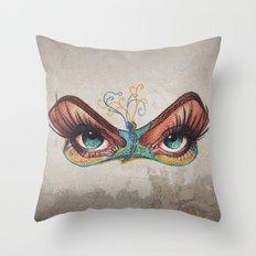 Butterflies eyes Throw Pillow