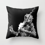 Red Hot Chili Bass Throw Pillow