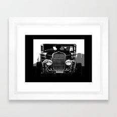 Old School- Hot Rod Framed Art Print