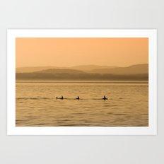 Orca Play Art Print