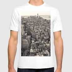 the city White SMALL Mens Fitted Tee