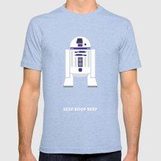 Star Wars Minimalism - R… Mens Fitted Tee Tri-Blue SMALL