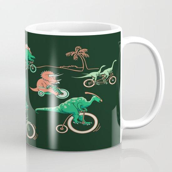 Dinosaurs on Bikes! Mug
