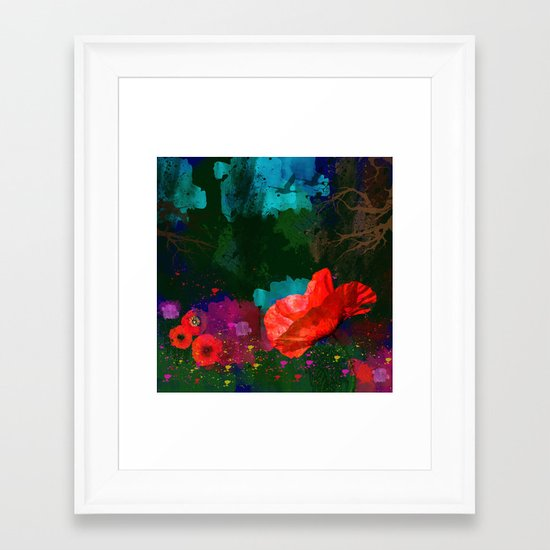 Poppies Summer Framed Art Print