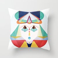 Past Soldier, Future Dreamer Throw Pillow