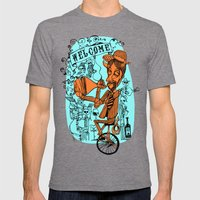 Welcome to the hell´s party Mens Fitted Tee Tri-Grey SMALL