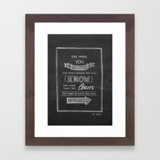 The More You Read Framed Art Print
