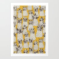 pineapple sunshine yellow Art Print