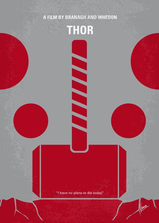 No232 My THOR minimal movie poster Art Print